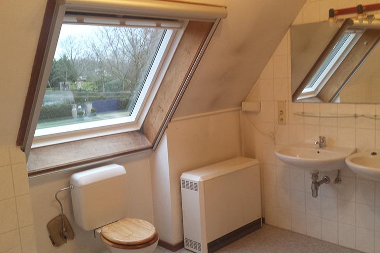 Badkamer renovatie vervangen WC en lavabo
